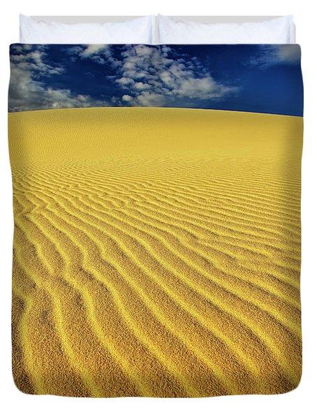 Burning Up At The White Sand Dunes - Mui Ne, Vietnam, Southeast Asia Duvet Cover
