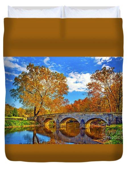 Burnside Bridge At Antietam Duvet Cover