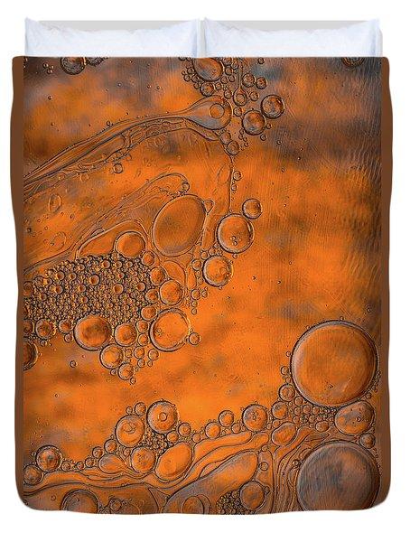 Burnt Bubble Fire Plate Duvet Cover