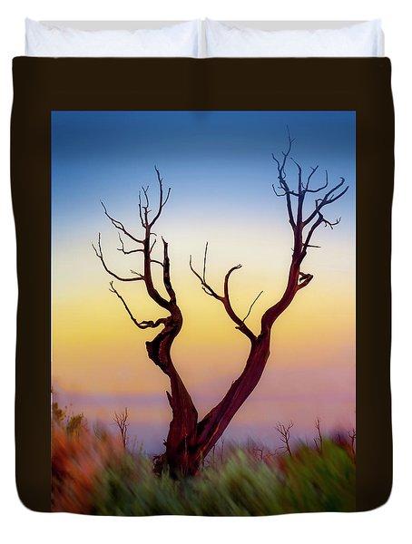 Burnt Cedar At Sunset Duvet Cover