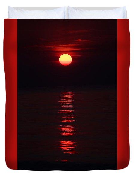 Burnt Orange Sunrise Duvet Cover