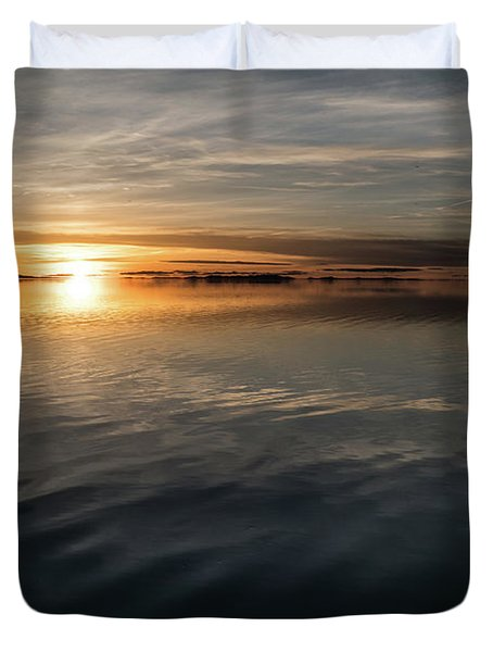 Burnt Reflection Duvet Cover by Justin Johnson