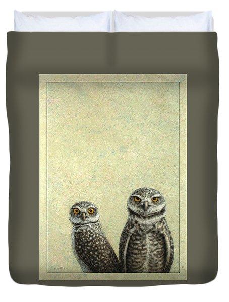 Burrowing Owls Duvet Cover
