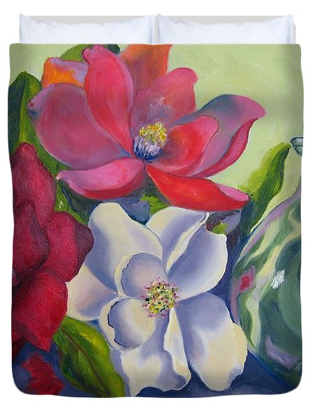 Burst Of Color Duvet Cover by Lisa Boyd