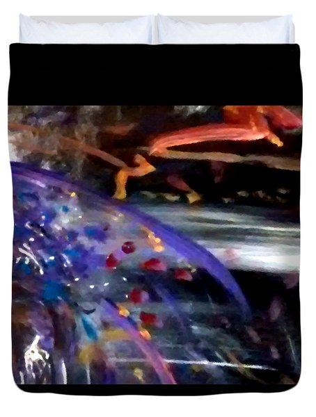 Burst Of Color Duvet Cover by Michelle Audas