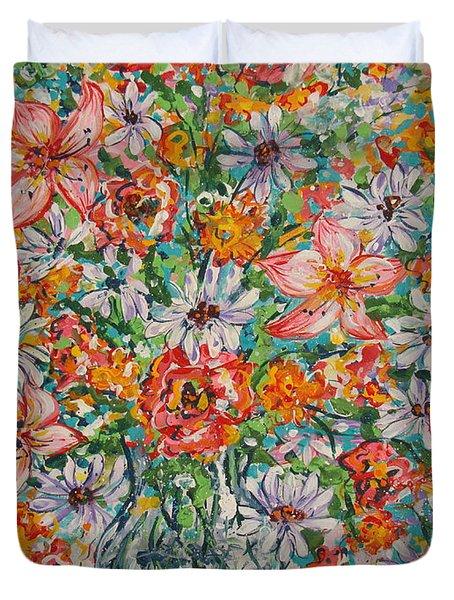 Burst Of Flowers Duvet Cover
