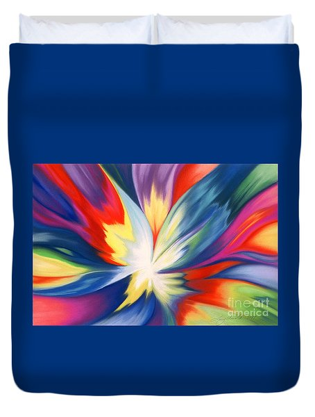 Burst Of Joy Duvet Cover by Lucy Arnold