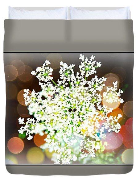Burst Of Light Kaleidoscope Duvet Cover
