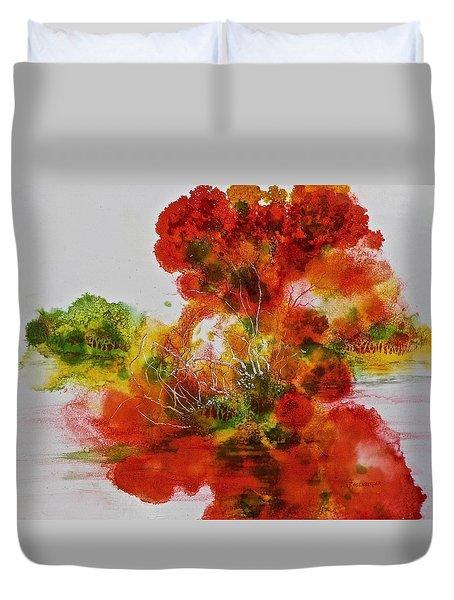Burst Of Nature, II Duvet Cover by Carolyn Rosenberger