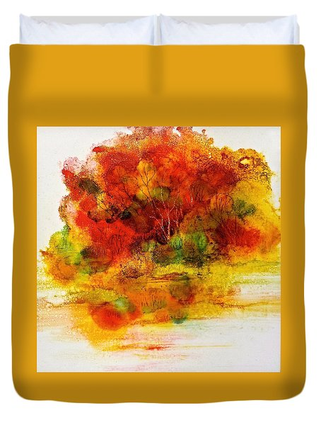 Duvet Cover featuring the painting Burst Of Nature IIi by Carolyn Rosenberger