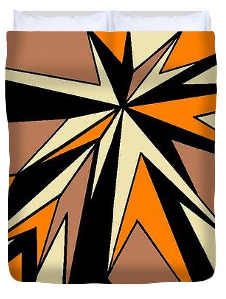 Burst Of Orange 2 Duvet Cover by Linda Velasquez