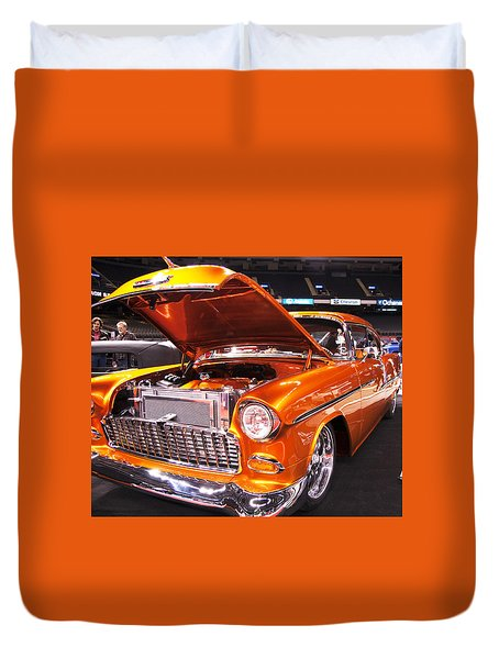 Burst Of Orange Duvet Cover