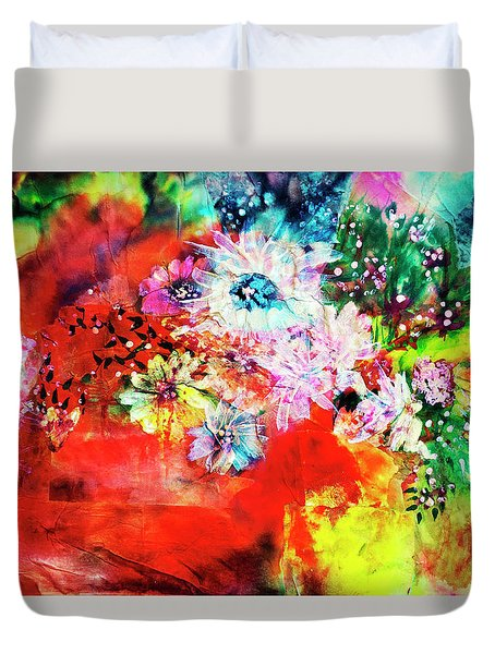 Burst Of Spring Flowers Duvet Cover