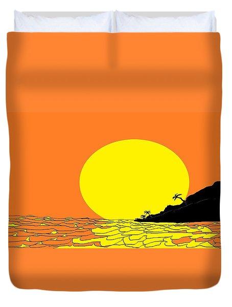 Burst Of Yellow Duvet Cover by Linda Velasquez