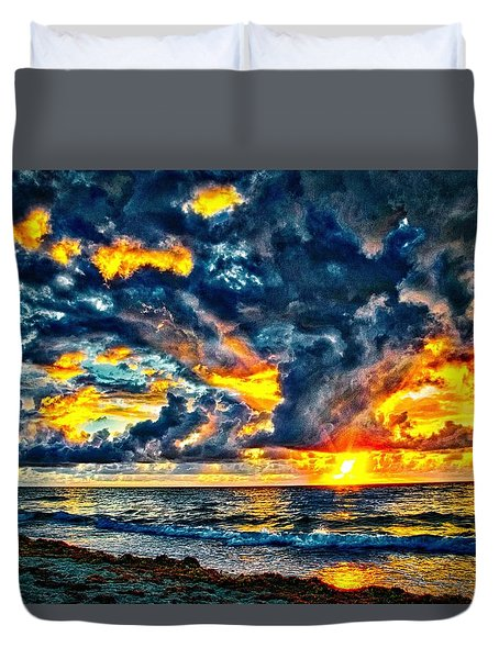 Bursting Forth Duvet Cover by Dennis Baswell