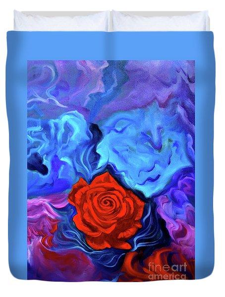 Bursting Rose Duvet Cover by Jenny Lee