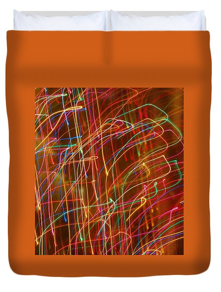 Duvet Cover featuring the photograph Bursting With Colors by Ramona Whiteaker