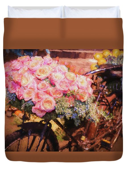 Bursting With Flowers Duvet Cover by Patrice Zinck