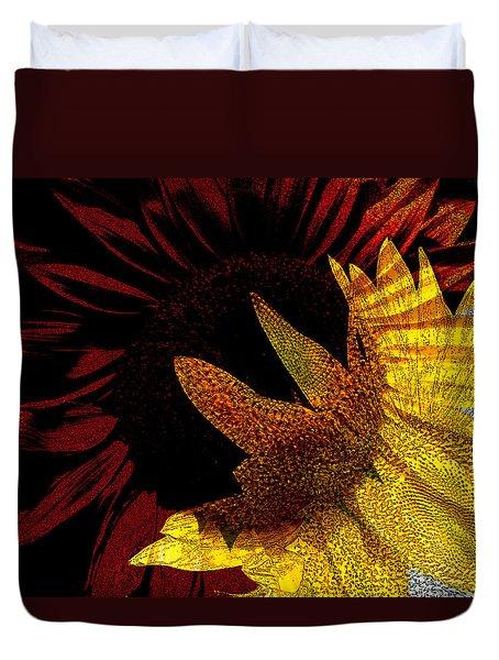 Bursting With Joy Duvet Cover by Lenore Senior