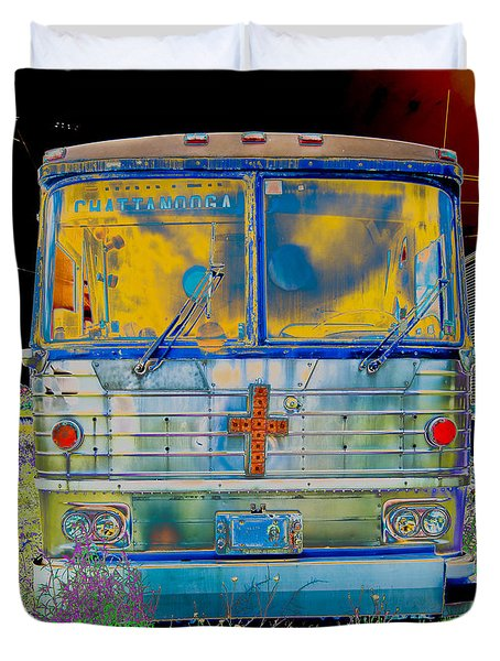 Bus To Chattanooga Duvet Cover by Julie Niemela