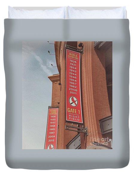 Busch Stadium - Cardinals Baseball Duvet Cover