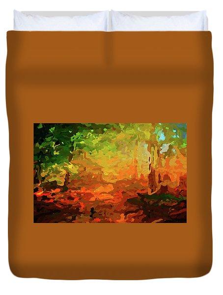 Bush Fire Duvet Cover