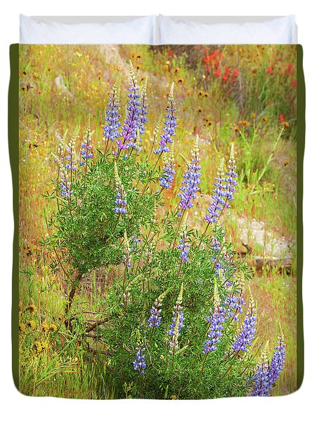Duvet Cover featuring the photograph Bush Lupine by Ram Vasudev