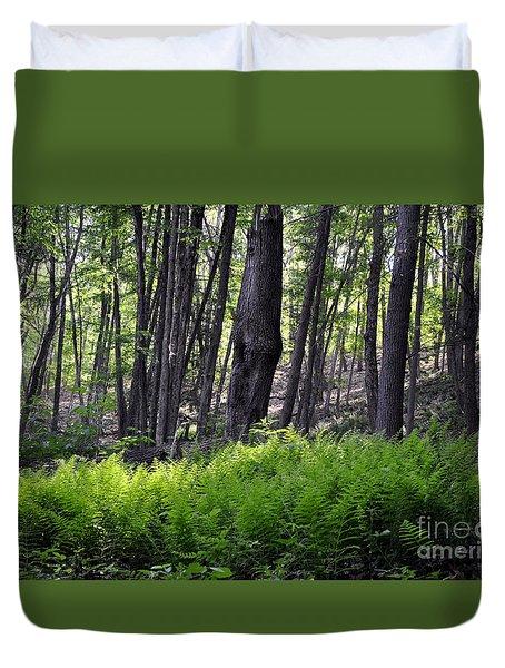 Bushkill Falls Ferns Duvet Cover