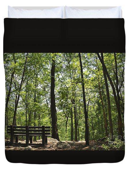 Bushkill Falls Trees Duvet Cover