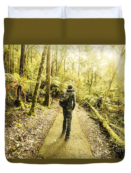 Duvet Cover featuring the photograph Bushwalking Tasmania by Jorgo Photography - Wall Art Gallery