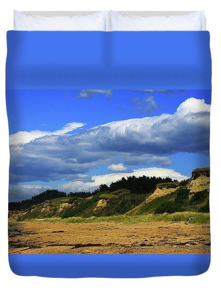 Duvet Cover featuring the photograph Bushy Beach by Nareeta Martin