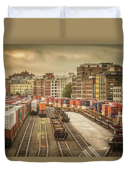 Busines End Of The City... Duvet Cover