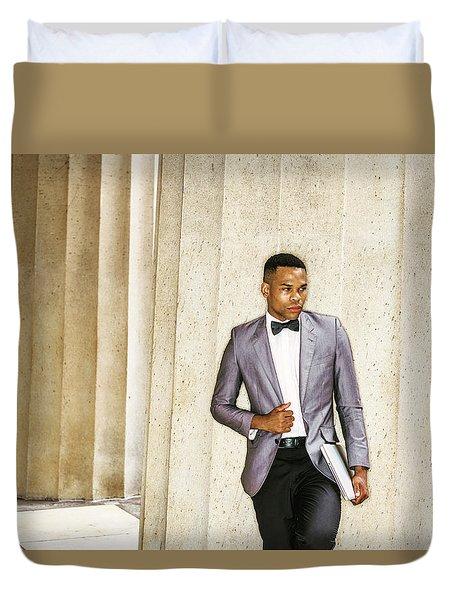 Black Businessman Duvet Cover