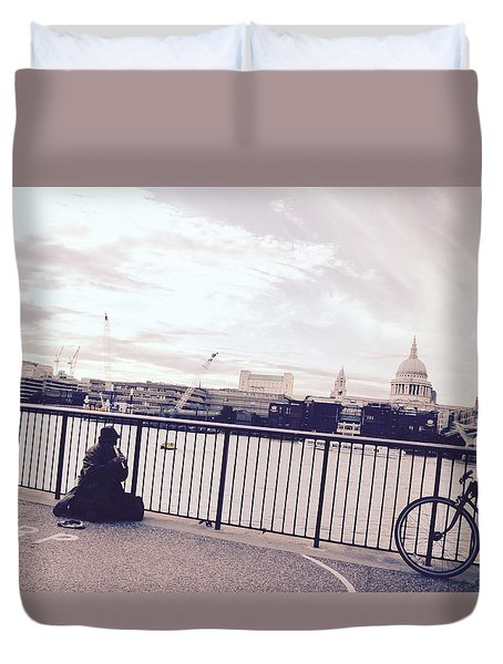 Busking Place Duvet Cover