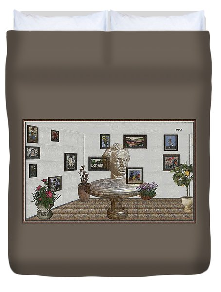 Bust Of The Spirit Of Einstein 1 Duvet Cover by Pemaro