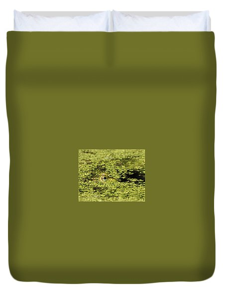 Buster In Camo Duvet Cover