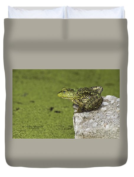 Buster On The Rocks Duvet Cover