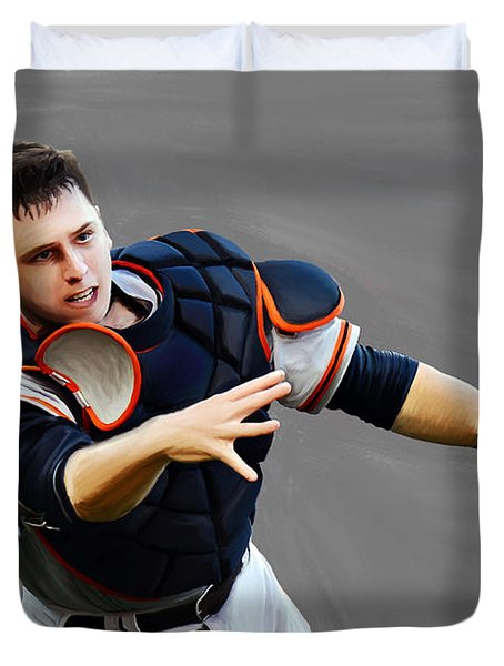 Buster Posey Duvet Cover
