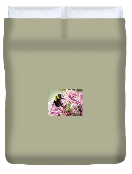 Duvet Cover featuring the photograph Busy As A Bumblebee by Ricky L Jones