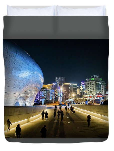 Busy Night Duvet Cover