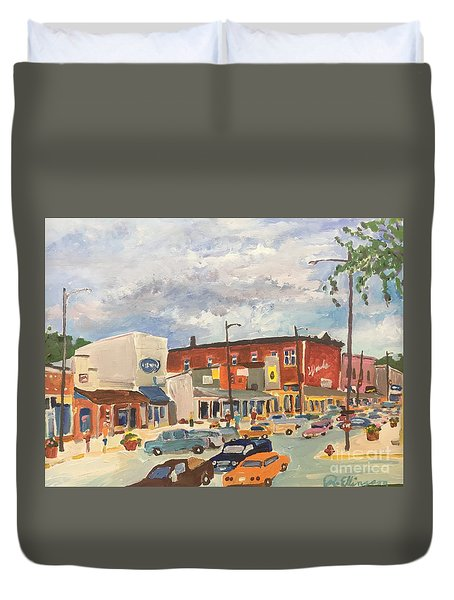 Busy Town Duvet Cover