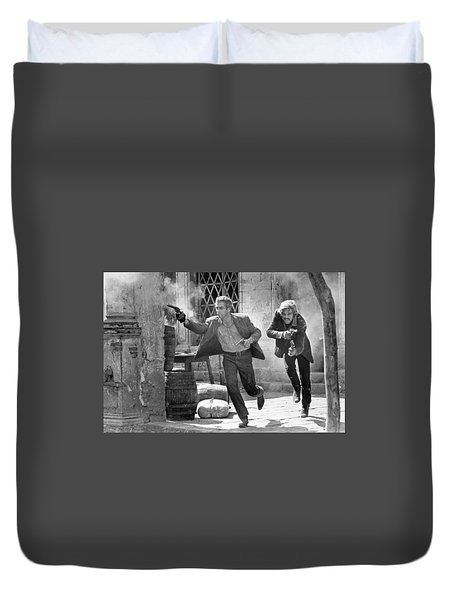 Butch Cassidy And The Sundance Kid - Newman And Redford Duvet Cover