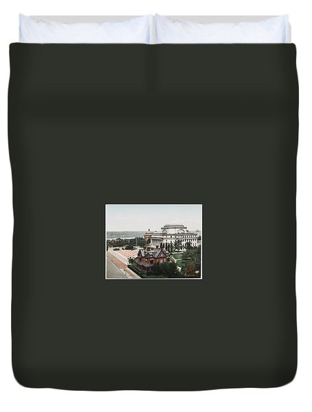 Butler Library At Columbia University Duvet Cover