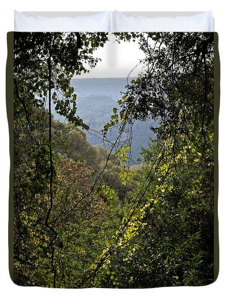 Duvet Cover featuring the photograph Butte Creek Canyon October by Michele Myers