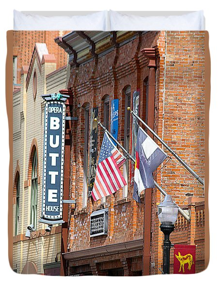Butte Opera House In Colorado Duvet Cover
