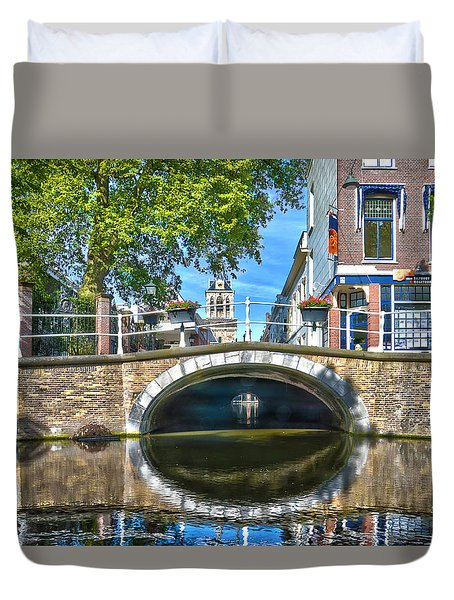 Butter Bridge Delft Duvet Cover