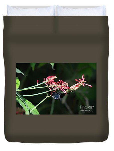 Butterfly In Flight Duvet Cover