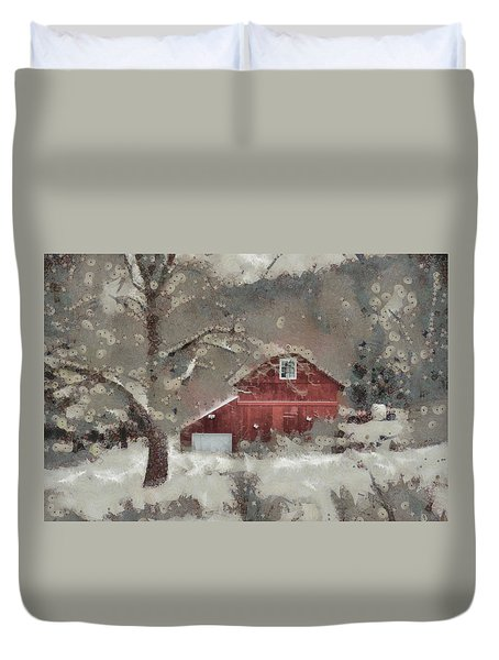 Duvet Cover featuring the mixed media Butter Lane by Trish Tritz