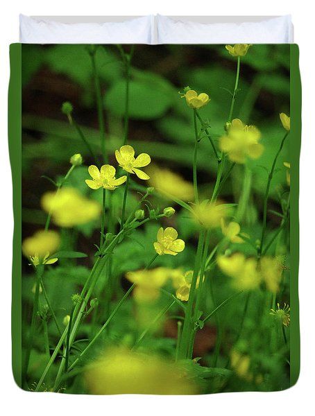 Buttercup Grouping- Vertical- Butler Creek Trail Duvet Cover