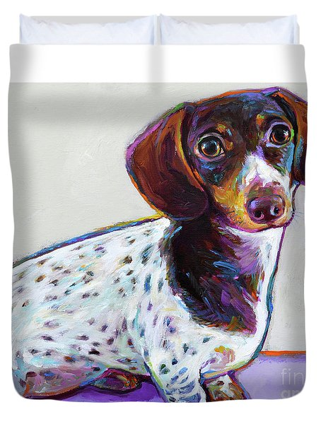 Duvet Cover featuring the painting Buttercup by Robert Phelps